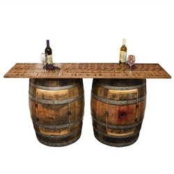 Napa East Collection Double Half Barrel Bar