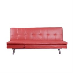 Primo International Deejay DJ Smallz Convertible Sofa in Red