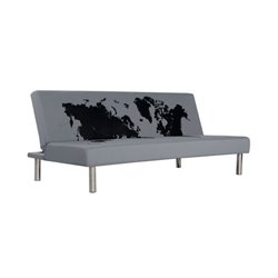 Primo International Best Choice Fabric Convertible Sofa in Gray
