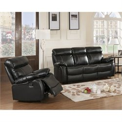 Primo International Parisian Chateau 2 Piece Sofa Set in Night