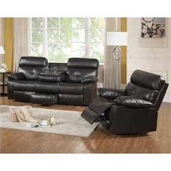 Primo International Parisian Rouquette 2 Piece Leather Sofa Set