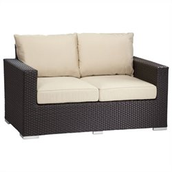 Sunset West Solana Loveseat in Chocolate