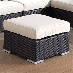 Sunset West Solana Ottoman in Chocolate