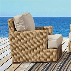 Sunset West Leucadia Club Chair in Summer Wheat
