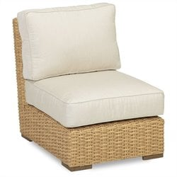 Sunset West Leucadia Armless Club Chair in Summer Wheat