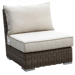 Sunset West Coronado Armless Club Chair in Driftwood