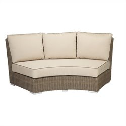 Sunset West Coronado Curved Loveseat in Driftwood and Antique Beige