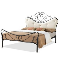 Alanna Metal Queen Platform Bed in Antique Bronze