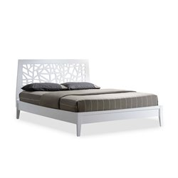 Jennifer Wood King Platform Bed in White
