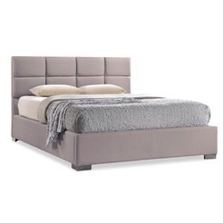 Sophie Upholstered Full Platform Bed in Beige
