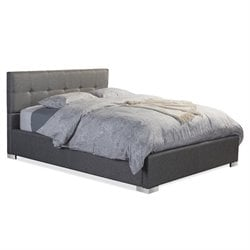 Regata Upholstered King Platform Bed in Gray