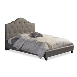 Anica Upholstered Queen Platform Bed in Gray