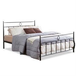 Ester Metal Full Spindle Bed in Dark Bronze