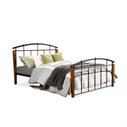 Optimus Metal Queen Spindle Bed in Dark Bronze