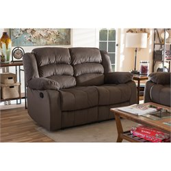 Hollace Microsuede Reclining Lovesesat in Taupe