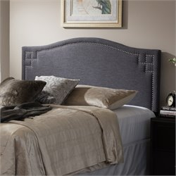 Aubrey Upholstered Queen Headboard in Dark Gray