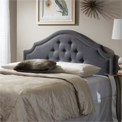 Cora Upholstered Full Headboard in Dark Gray