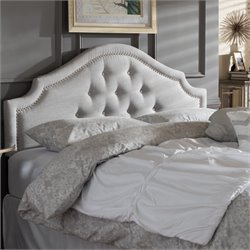 Cora Upholstered Queen Headboard in Grayish Beige
