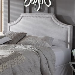 Avignon Upholstered King Headboard in Grayish Beige