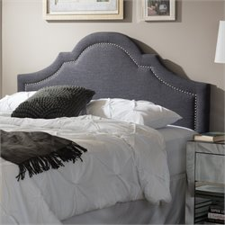 Rita Upholstered Full Headboard in Dark Gray