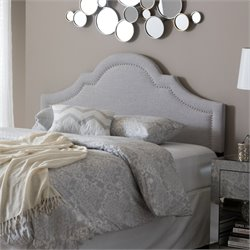 Rita Upholstered Full Headboard in Grayish Beige