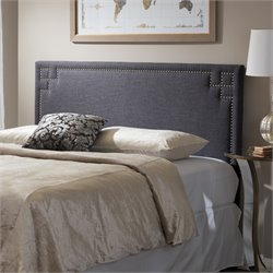 Geneva Upholstered Full Headboard in Dark Gray