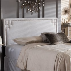 Geneva Upholstered Full Headboard in Grayish Beige