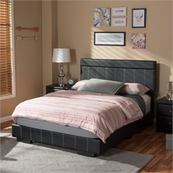 Solo Full Platform Bed in Black