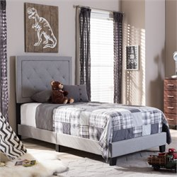 Paris Twin Bed in Gray
