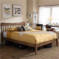Edeline Queen Platform Bed in Walnut