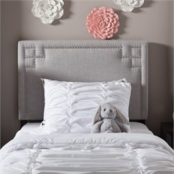 Geneva Upholstered Twin Headboard in Grayish Beige
