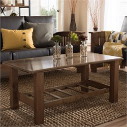 Charlotte Wood Coffee Table in Walnut
