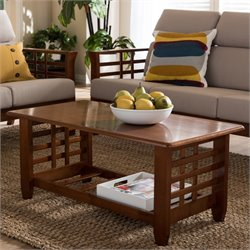 Larissa Wood Coffee Table in Cherry