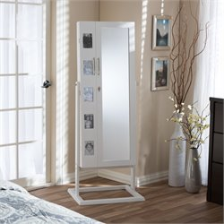 Vittoria Storage Jewelry Armoire in White