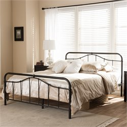 Upton Queen Metal Platform Bed in Antique Bronze