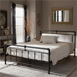 Westcott Queen Platform Bed in Antique Bronze