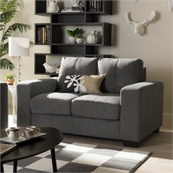 Westerlund Upholstered Loveseat in Gray