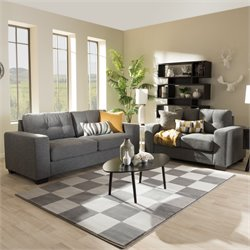 Westerlund 2 Piece Upholstered Sofa Set in Gray