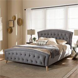 Hannah Queen Platform Bed in Gray