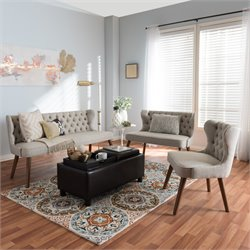 Scarlett 3 Piece Sofa Set in Beige