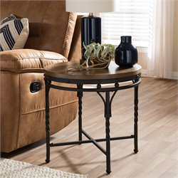 Austin End Table in Antique Bronze