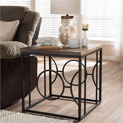 Palmer End Table in Antique Bronze