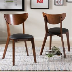 Sumner Wooden Dining Chair in Dark Walnut (Set of 2)