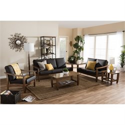 Pierce 5 Piece Sofa Set in Brown