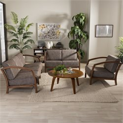 Velda 3 Piece Sofa Set in Gravel