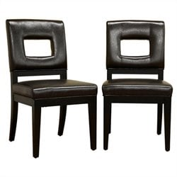 Faustino Dining Chair in Dark Brown (Set of 2)