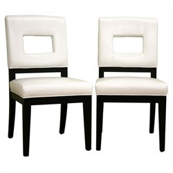 Faustino Dining Chair in White (Set of 2)