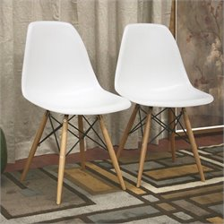 Azzo Accent Chair in White (Set of 2)