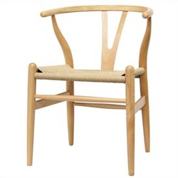 Wishbone Y Dining Chair in Natural (Set of 2)