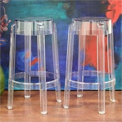 Bettino Counter Stool in Clear (Set of 2)